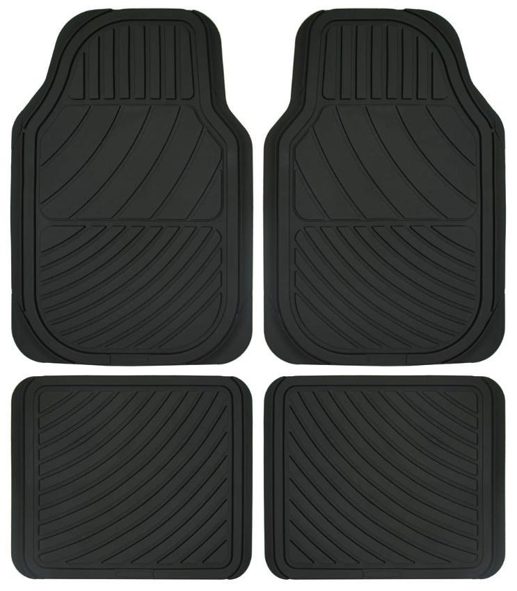 TS3358PC POLGUM Universeel geschikt Rubber met voering van stof, voor en achter, Aantal: 4, Zwart Grootte: 35.5x45.5, 66x44.5 Vloermatset TS3358PC