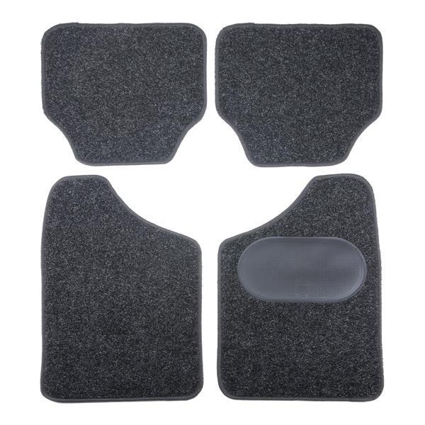 9900-2 POLGUM Universeel geschikt Textiel, voor en achter, Aantal: 4, Zwart Grootte: 40x44.5, 69.5x44.5 Vloermatset 9900-2