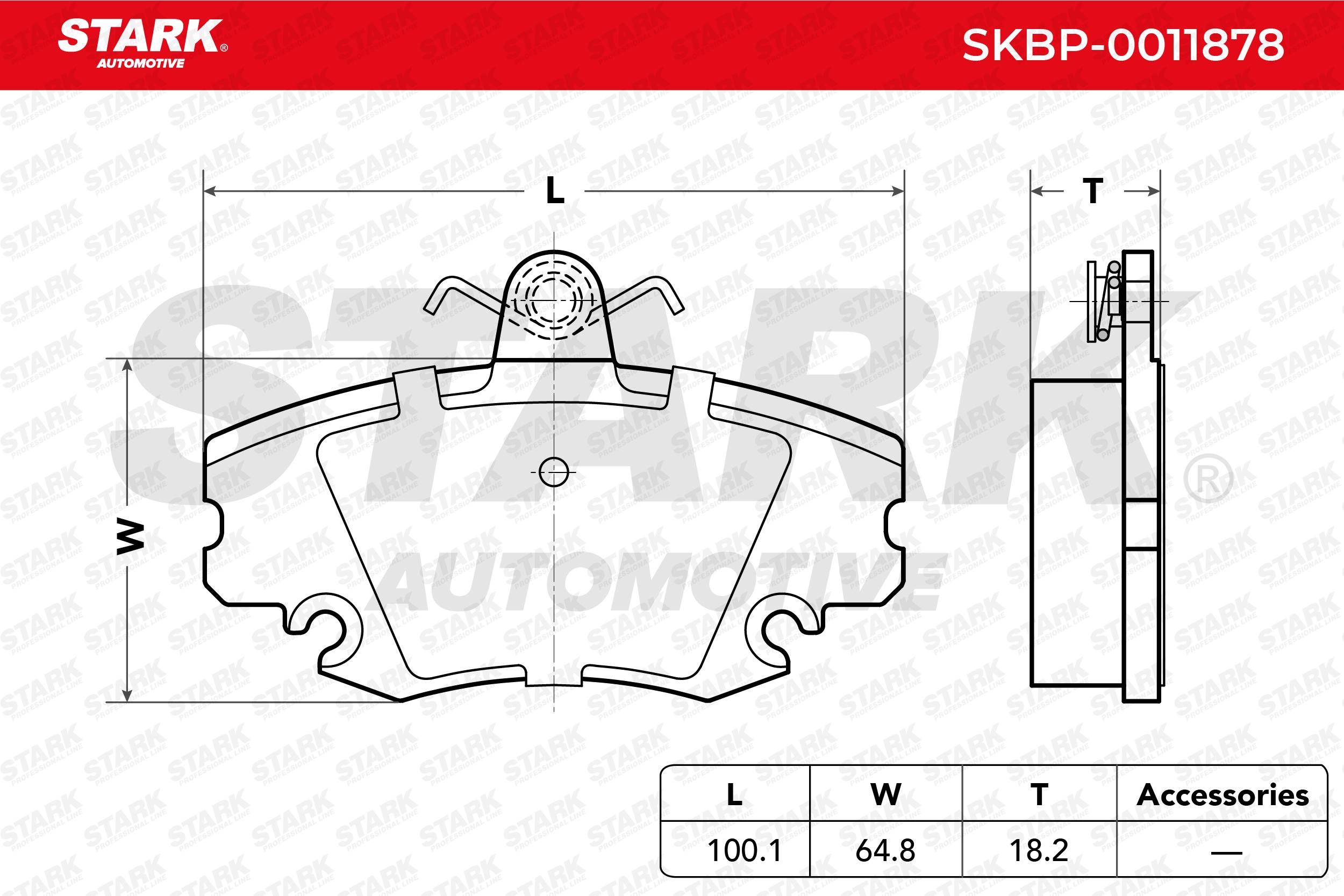 STARK   Bremsbelagsatz, Scheibenbremse SKBP-0011878