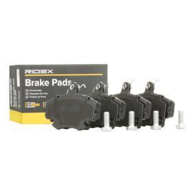 402B1282 RIDEX exkl. Verschleißwarnkontakt, mit Bremssattelschrauben Höhe: 64,8mm, Breite: 100,1mm, Dicke/Stärke: 18,2mm Bremsbelagsatz, Scheibenbremse 402B1282 günstig kaufen
