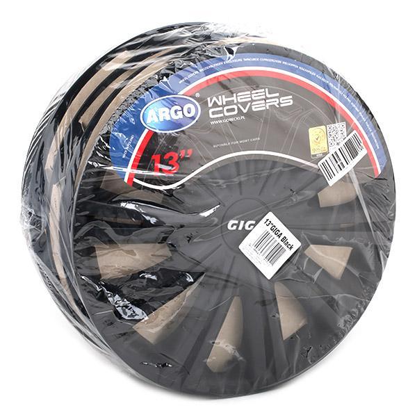 13 GIGA BLACK Hjulkapsler ARGO - Billige mærke produkter