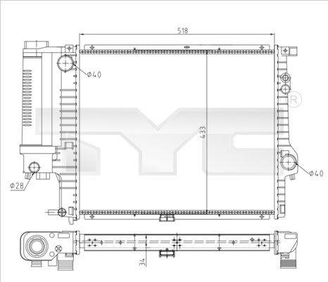 OE Original Kühlmodul 703-0010-R TYC