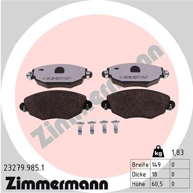 Bremssteine ZIMMERMANN 23279.985.1