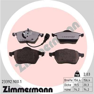 Bremsbelagsatz Scheibenbremse ZIMMERMANN 23392.900.1