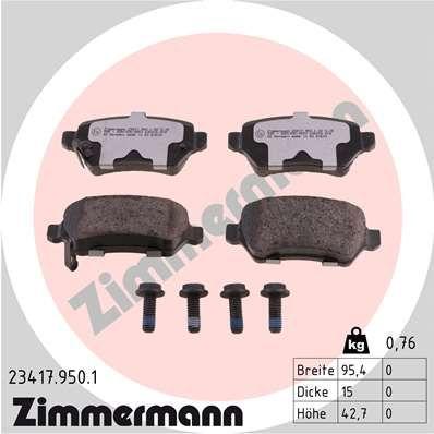 Scheibenbremsbeläge ZIMMERMANN 23417.950.1