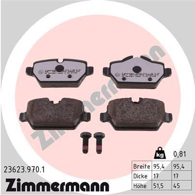 Scheibenbremsbeläge ZIMMERMANN 23623.970.1