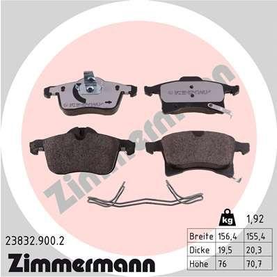 Bremsbelagsatz Scheibenbremse ZIMMERMANN 23832.900.2