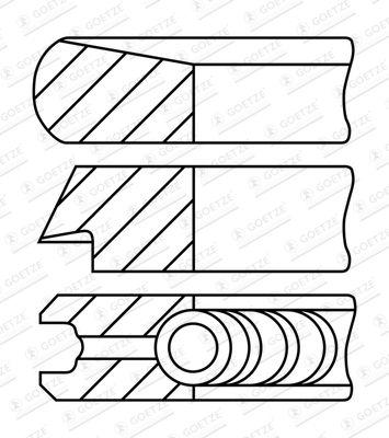 GOETZE ENGINE Piston Ring Kit for ISUZU - item number: 08-447900-00