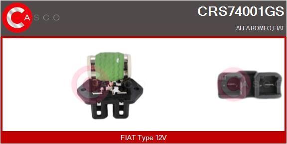 Resistenza ventola riscaldamento CRS74001GS con un ottimo rapporto CASCO qualità/prezzo