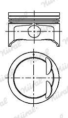 NÜRAL: Original Motor Kolben 87-424500-00 ()