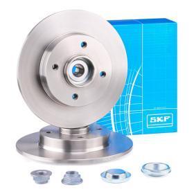VKBA3680 SKF Voll, mit integriertem Radlager, mit integriertem magnetischen Sensorring Ø: 249mm, Felge: 4-loch, Bremsscheibendicke: 9mm Bremsscheibe VKBD 1011 günstig kaufen
