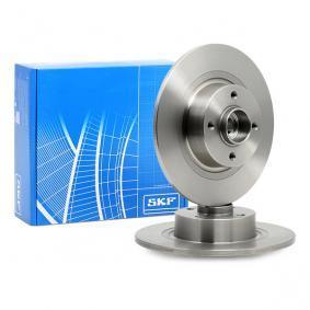 VKBA3676 SKF Voll, mit integriertem Radlager, mit integriertem magnetischen Sensorring Ø: 270mm, Ø: 55mm, Felge: 4-loch, Bremsscheibendicke: 10mm Bremsscheibe VKBD 1014 günstig kaufen