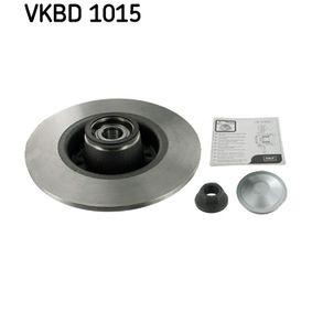VKBA3639 SKF Voll, mit integriertem Radlager, mit integriertem magnetischen Sensorring Ø: 240mm, Felge: 4-loch, Bremsscheibendicke: 8mm Bremsscheibe VKBD 1015 günstig kaufen