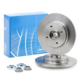VKBA6549 SKF Voll, mit integriertem Radlager, mit integriertem magnetischen Sensorring Ø: 267,7mm, Felge: 4-loch, Bremsscheibendicke: 12mm Bremsscheibe VKBD 1016 günstig kaufen
