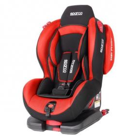 500IEVORD SPARCO rot, grau, Polyester, Kunststoff, ISOFIX: Ja, Gruppe: 1, Gruppe: 2 Gewicht des Kindes: 9-25kg, Kindersitzgeschirr: 5-Punkt-Gurt Kindersitz 500IEVORD günstig kaufen