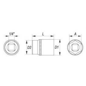 YT-1409 Steckschlüsseleinsatz YATO - Niedrigpreis-Anbieter