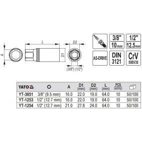 YT-3851 Zündkerzenschlüssel YATO Erfahrung