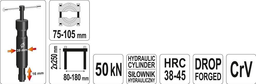 YT0609 Abziehvorrichtung, Trennmesser YATO YT-0609 - Große Auswahl - stark reduziert