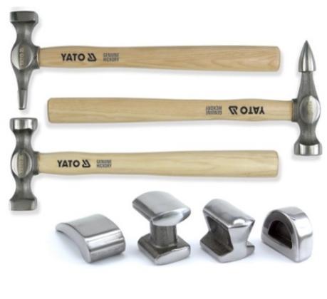 YT4590 Ausbeulhammer-Satz YATO YT-4590 - Große Auswahl - stark reduziert