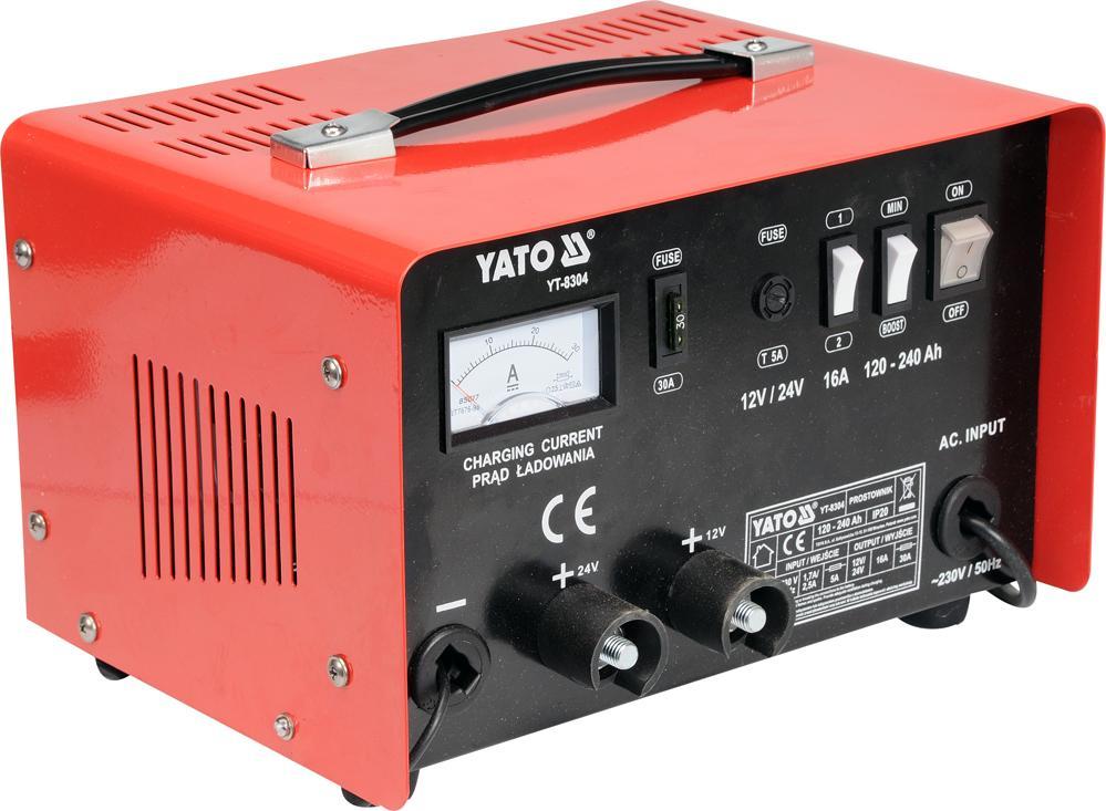 YT-8304 YATO max.laddström: 16A Spänning: 12, 24V Starthjälp YT-8304 köp lågt pris