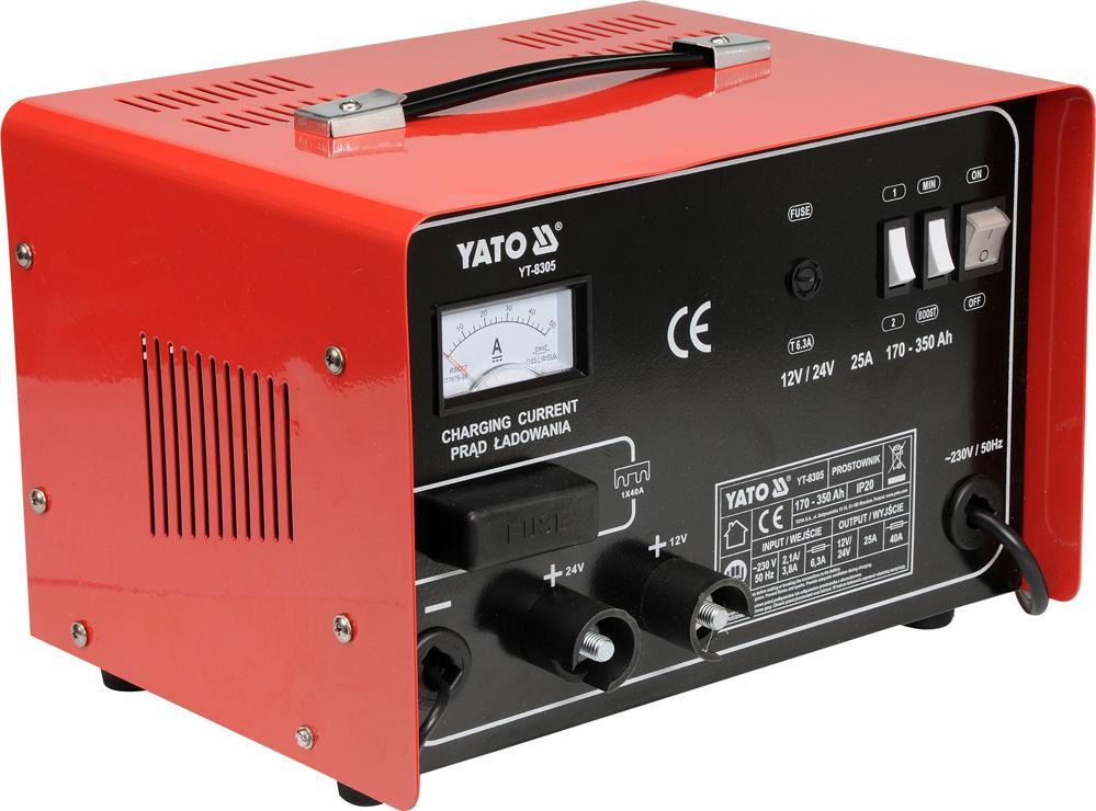 YT-8305 YATO max.laddström: 25A Spänning: 12, 24V Starthjälp YT-8305 köp lågt pris