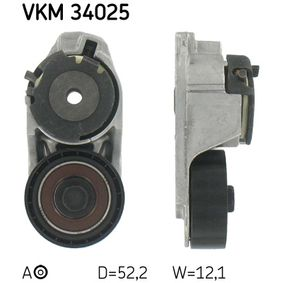 VKM 34025 SKF Ø: 52,2mm, Breite: 18mm Spannrolle, Keilrippenriemen VKM 34025 günstig kaufen