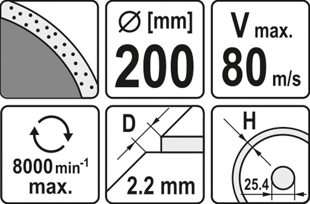 YATO | Trennscheibe, Winkelschleifer YT-6017