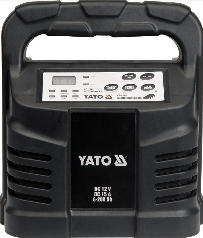 YT-8303 YATO Batterikapacitet: 6-200Ah, max.laddström: 15A Spänning: 230V Starthjälp YT-8303 köp lågt pris