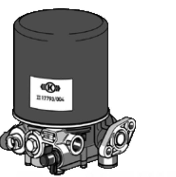 KNORR-BREMSE Osuszacz powietrza, instalacja pneumatyczna do MITSUBISHI - numer produktu: K024635N50