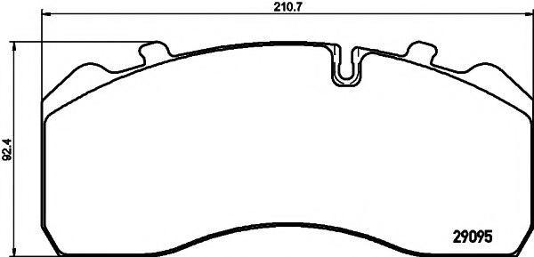 Bremsbelagsatz KNORR-BREMSE K056758K50