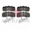 MDP5104 MERITOR Stabdžių trinkelių rinkinys, diskinis stabdys - įsigyti internetu