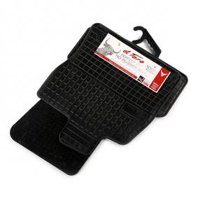 0397 FROGUM Skräddarsytt gummi, fram och bak, Antal: 4, svart Set med golvmatta 0397 köp lågt pris