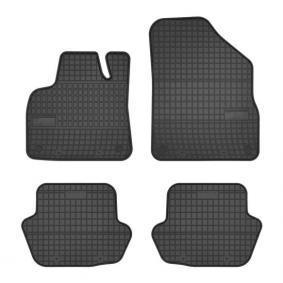 0651 FROGUM Maßgefertigt Gummi, vorne und hinten, Menge: 4, schwarz Autofußmatten 0651 günstig kaufen