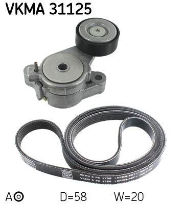 VKMA 31127 Crantées-Jeu SKF