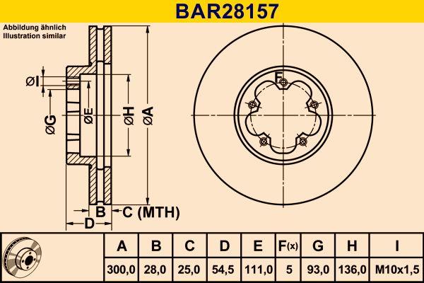 Barum Спирачен диск BAR28157