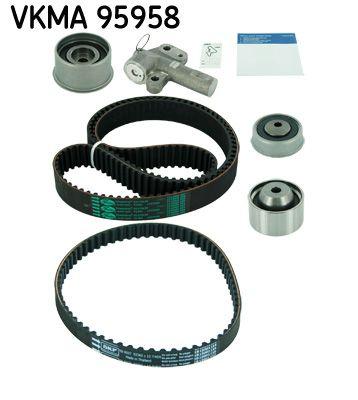 VKMT956591 SKF Zähnezahl 1: 65, mit Spanndämpfer, Spannrolle Zahnriemensatz VKMA 95958 günstig kaufen