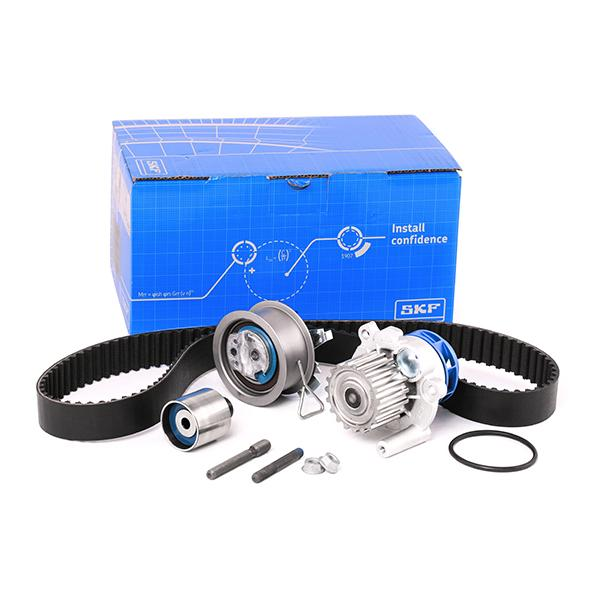 VW POLO 2003 replacement parts: Water pump and timing belt kit SKF VKMC 01250-2 at a discount — buy now!