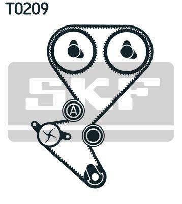 VKMC 03258 Zahnriemensatz mit Wasserpumpe SKF - Markenprodukte billig