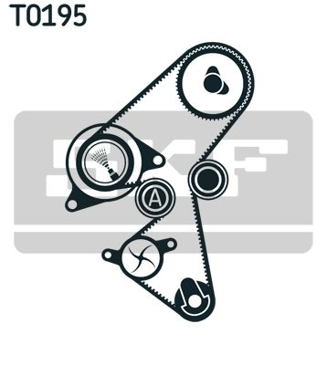 VKMC 03259 Wasserpumpe + Zahnriemensatz SKF Test