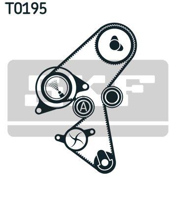 Wasserpumpe + Zahnriemensatz VKMC 03259 von SKF