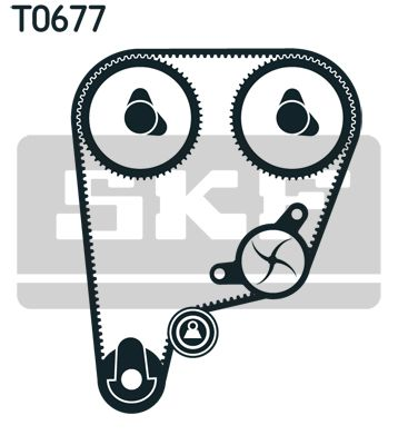 Cinghie, catene, rulli Honda CR-V mk1 ac 2001 VKMC 93210