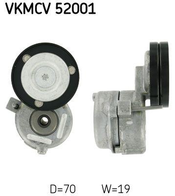 SKF Tensioner Pulley, v-ribbed belt for IVECO - item number: VKMCV 52001