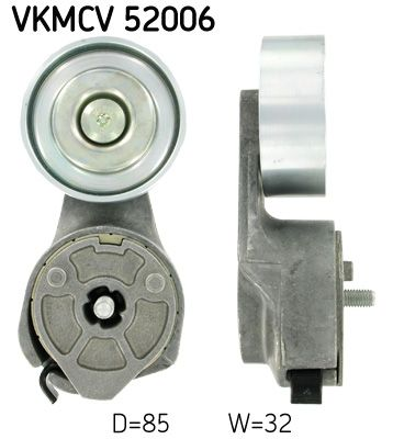 SKF Spannrolle, Keilrippenriemen für IVECO - Artikelnummer: VKMCV 52006