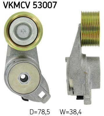 SKF Rolka napinacza, pasek klinowy wielorowkowy do VOLVO - numer produktu: VKMCV 53007