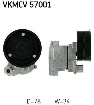 SKF Strammehjul, kilerem til DAF - vare number: VKMCV 57001