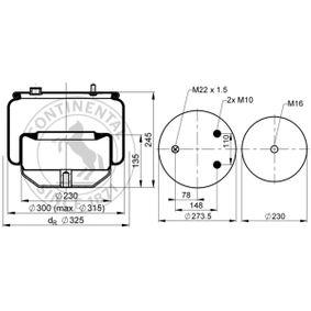 6754NP02 Federbalg, Luftfederung CONTITECH AIR SPRING online kaufen