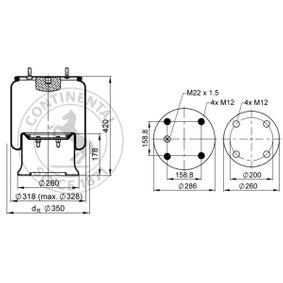 CONTITECH AIR SPRING Soffietto, Sospensione pneumatica 813MB: compri online