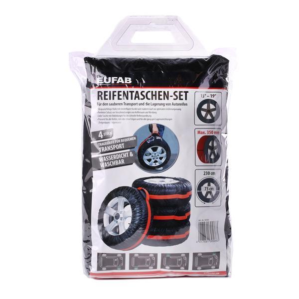 Comprare 30586 EUFAB nero/rosso, 15, 16, 17, 18, 19Inch Copri pneumatici 30586 poco costoso