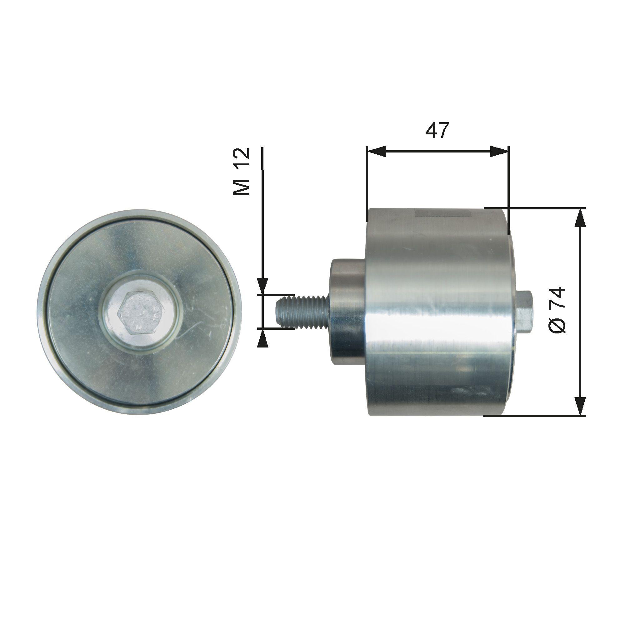 GATES Rolka kierunkowa / prowadząca, pasek klinowy zębaty do IVECO - numer produktu: T36637