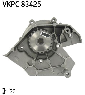 SKF Wasserpumpe VKPC 83425